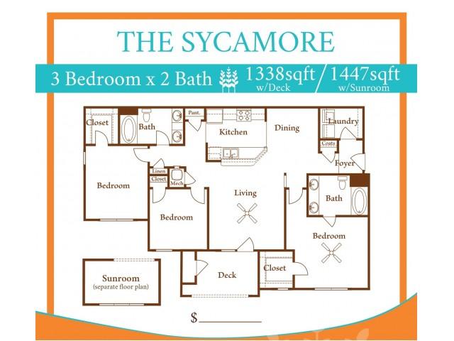 3X2 Sycamore