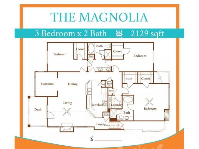 3X2 Magnolia w/ one car garage