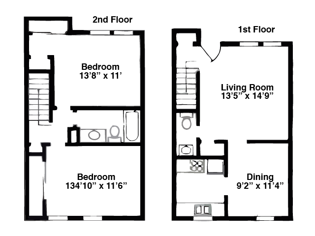 2 Bed, 1049 sq ft