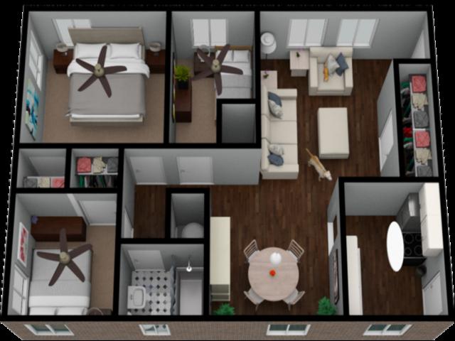 Beautiful 3 bedroom renovated apartment home