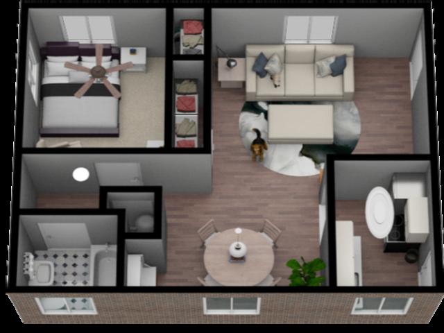 1 Bedroom 1 Bath 650 Sqft Apartment Home