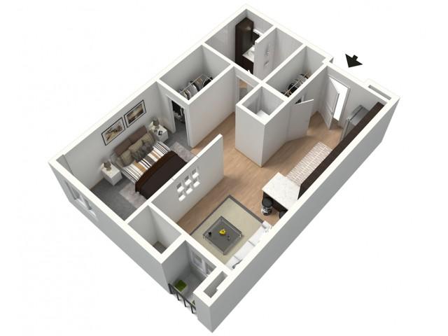 Bombon Furnished 3D Floor Plan