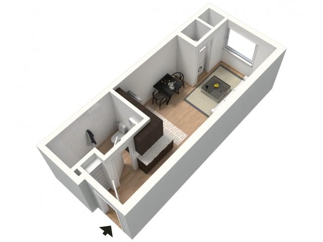 Latte Furnished 3D Floor Plan