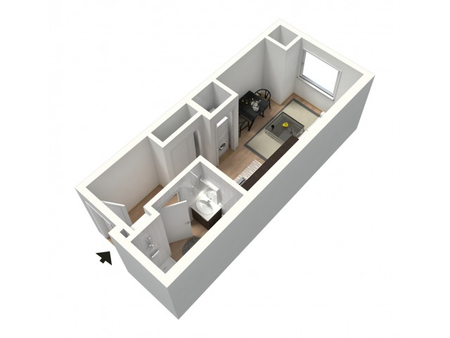 Misto Furnished 3D Floor Plan