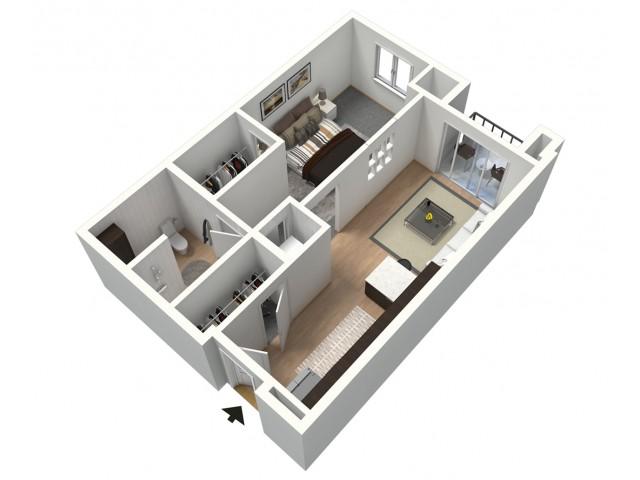 Cortado Furnished 3D Floor Plan