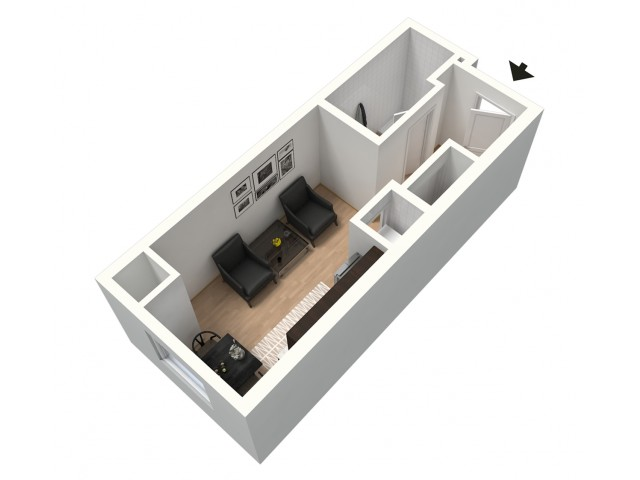 Lungo Furnished 3D Floor Plan