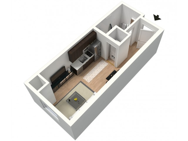 Nitro Furnished 3D Floor Plan