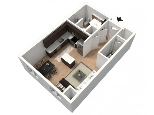 Frappe Furnished 3D Floor Plan