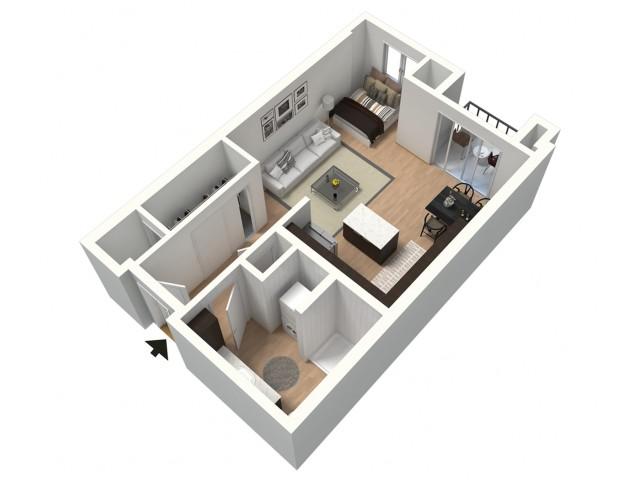 Vienna Furnished 3D Floor Plan