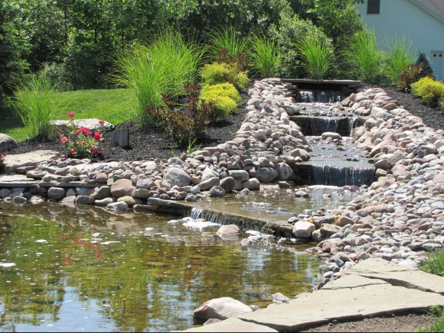 Image of Koi Pond with Waterfall for Autumn Creek Apartments