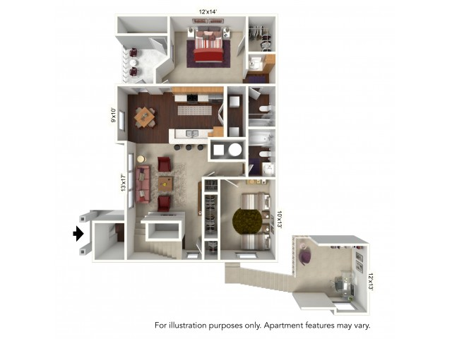 Floor Plan 4 | Windsong Place Apartments