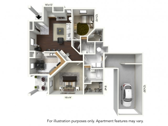 Floor Plan 9 | Renaissance Apartments Williamsville Ny | Renaissance Place Apartments