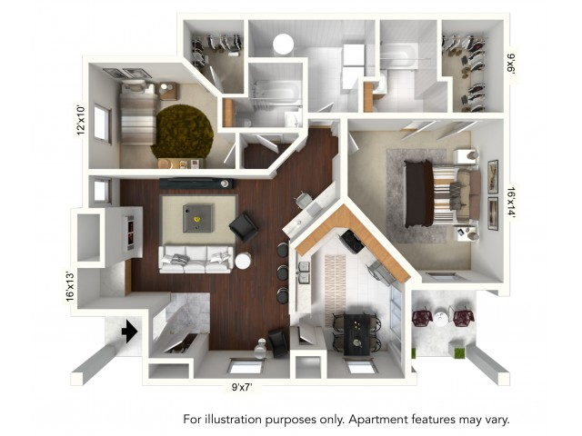 Floor Plan 7 | Apartments For Rent Williamsville Ny | Renaissance Place Apartments