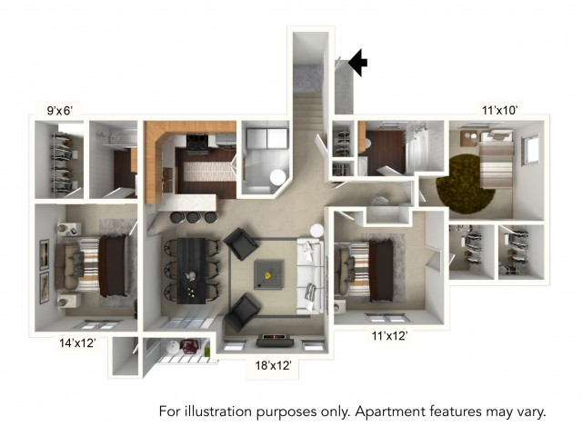 Floor Plan 23 | Apartments For Rent | Renaissance Place Apartments