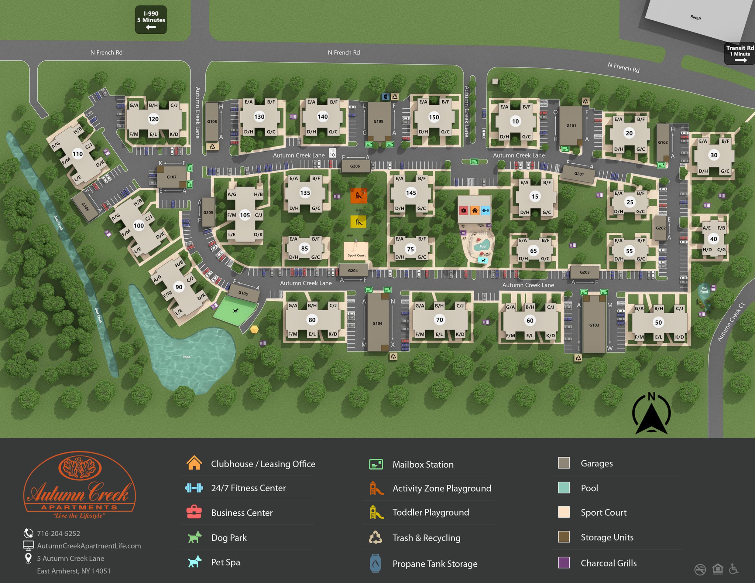 Autumn Creek Property Map