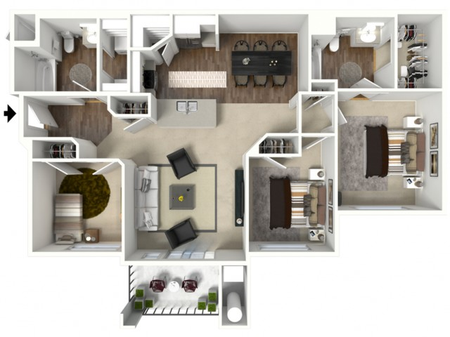 3 bed 2 bath Corvina Premier floor plan