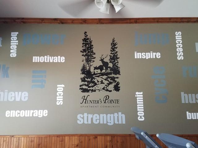 Fitness Center Inspirational Wall
