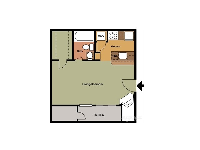 A Floor Plan 403 sq ft