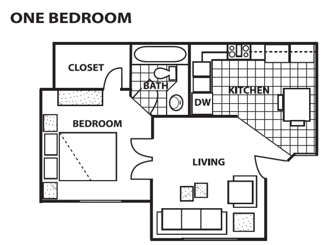 1 Bedroom 1 Bathroom Flat