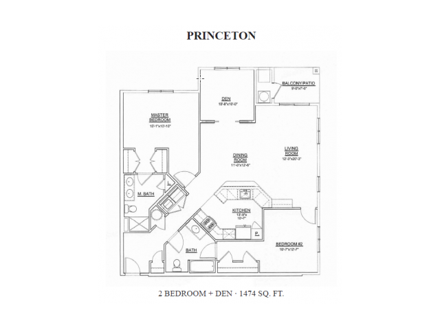 Floor Plan 2 | Apartments In Ewing Township NJ | Heritage Court