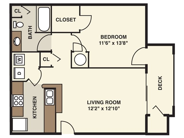 1 Bedroom Floor Plan | Alta Springs (NC)