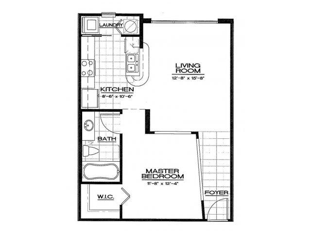 One Bedroom Floorplan | Aqua at Millenia