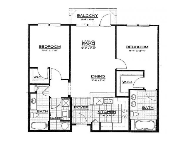 Two Bedroom Floorplan | Aqua at Millenia