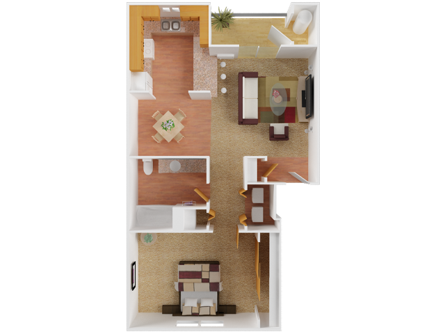 Limestone- | 1 bed 1 bath | from 690 square feet