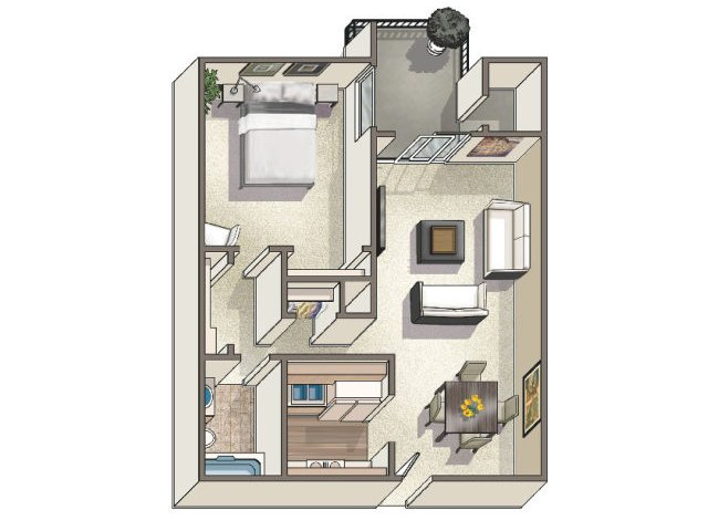 Floor Plan 2 | Lakeview Towers at Belmar