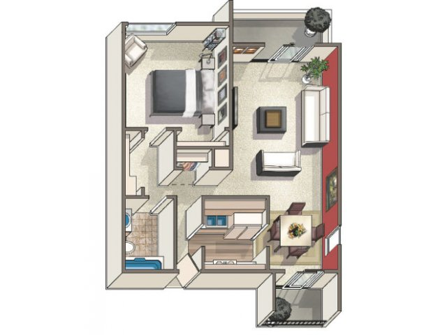 Floor Plan 4 | Lakeview Towers at Belmar