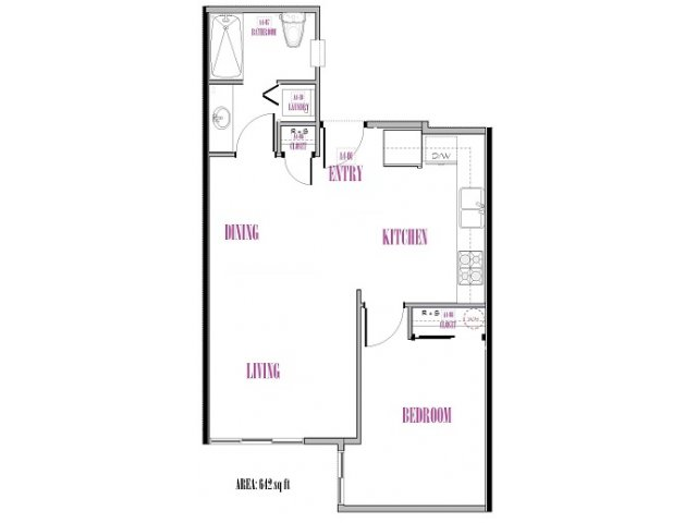 Spickard | 1 bed 1 bath | from 642 square feet