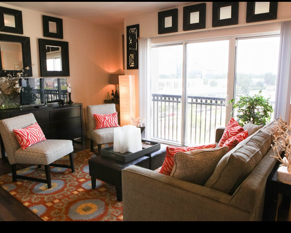 Spacious living room at Stamford CT apartments for rent