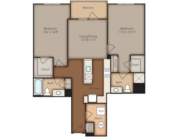 Floor Plan 6 | Del Ray Central