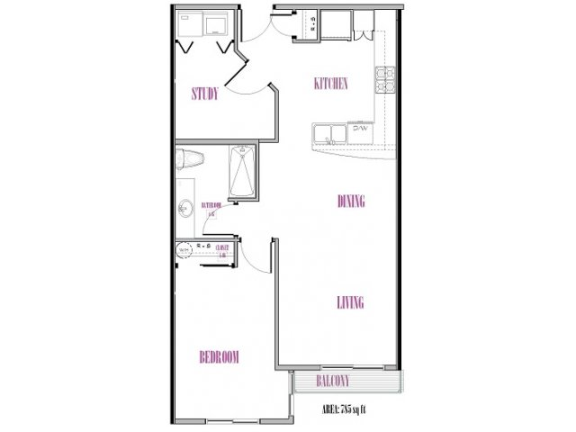 Goode | 1 bed 1 bath | from 780 square feet
