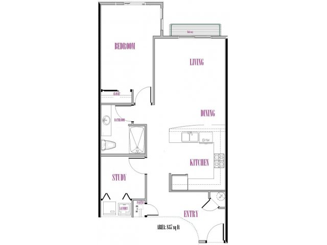 Fernow | 1 bed 1 bath | from 837 square feet
