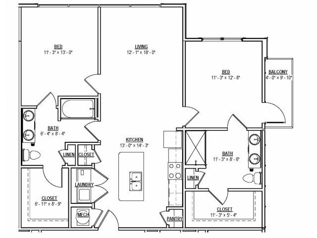 Floorplan 15 | 131 Ponce