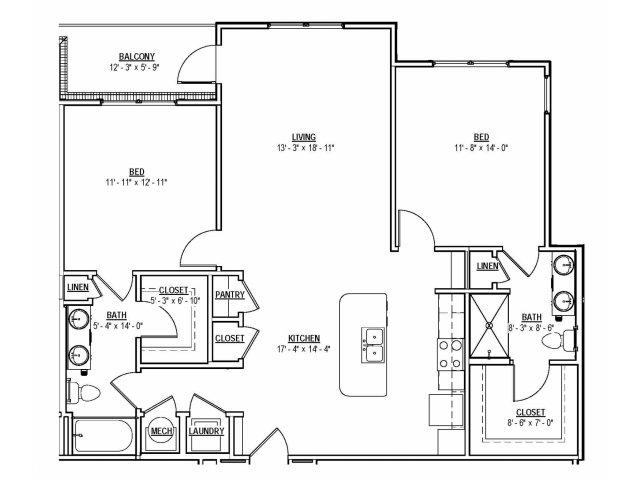 Floorplan 16 | 131 Ponce