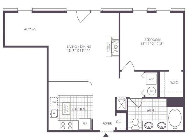 E | 1 bed 1 bath | from 768 square feet