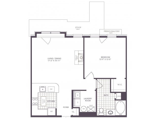 H | 1 bed 1 bath | from 801 square feet