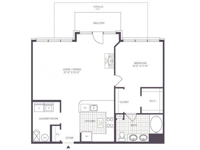 I | 1 bed 1 bath | from 897 square feet