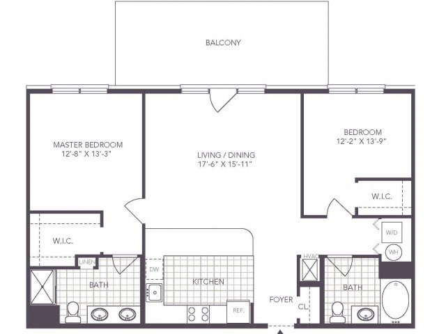 N | 2 bed 2 bath | from 1104 square feet