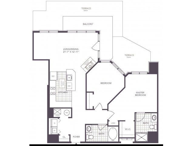 O | 2 bed 2 bath | from 1055 square feet