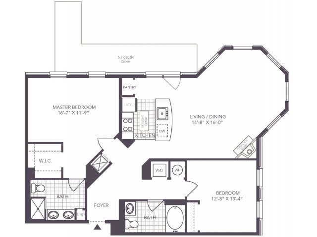 S | 2 bed 2 bath | from 1235 square feet