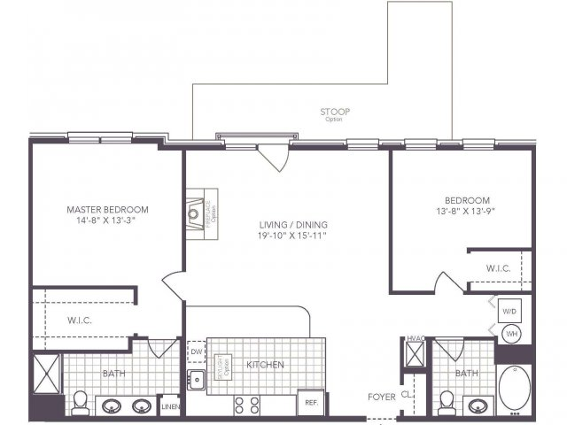 T | 2 bed 2 bath | from 1265 square feet