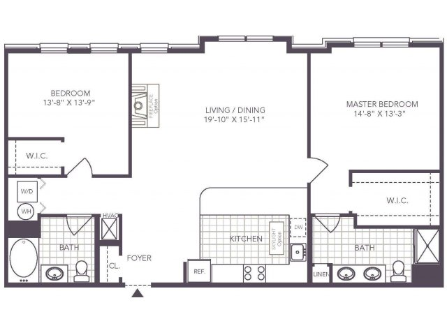 U | 2 bed 2 bath | from 1265 square feet