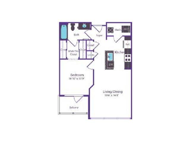 Floor Plan 42 | Del Ray Central