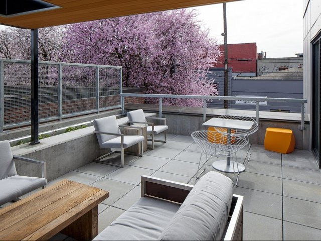 Image of Community Terrace with BBQ for The Addy Apartments
