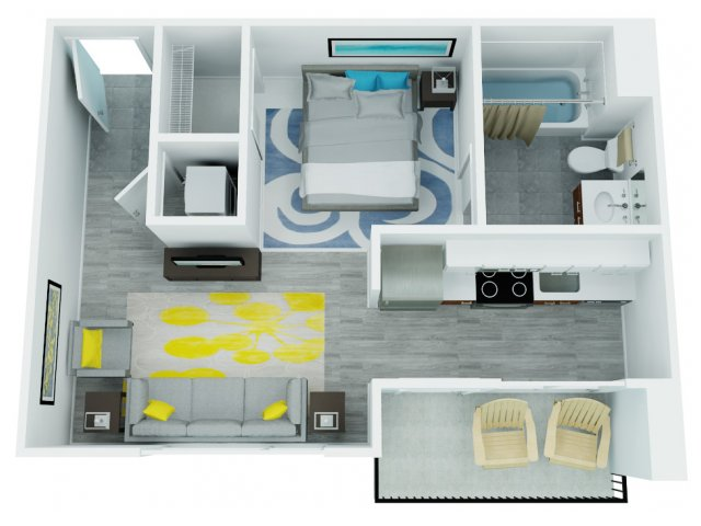 Studio Floor Plan | The Addy