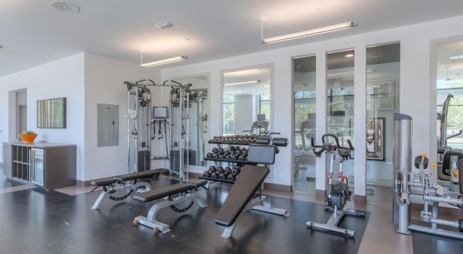 Resident Fitness Center   1 Bedroom Apartments San Jose   121 Tasman