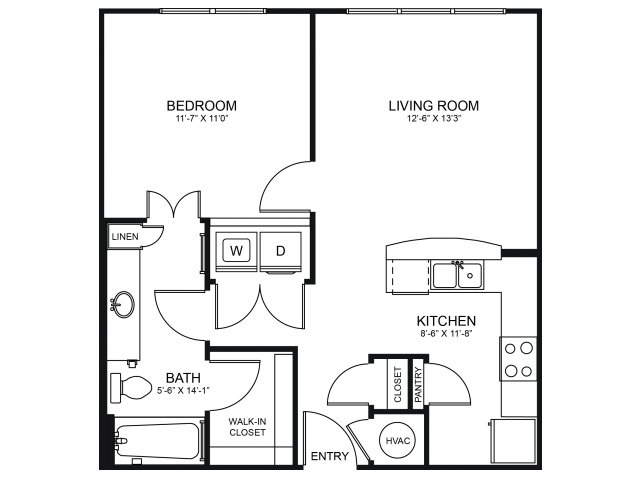 Floorplan 4   Seventeen Apartments